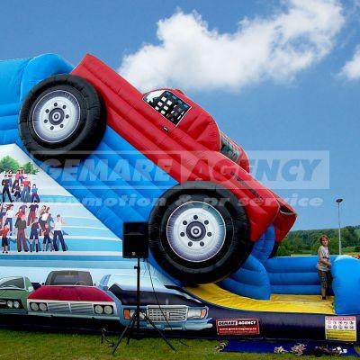 Nafukovacia šmýkačka Monster truck